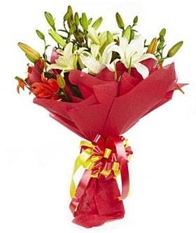 5 dal kazanlanka lilyum buketi  Adana çiçek gönderme sitemiz güvenlidir