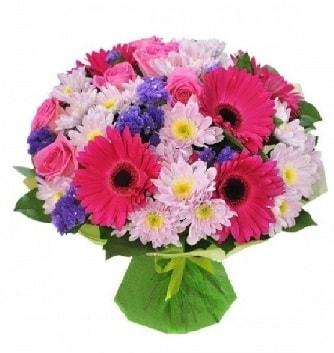 Karışık mevsim buketi mevsimsel buket  Adana çiçek satışı