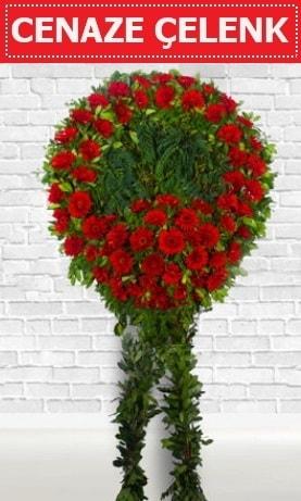 Kırmızı Çelenk Cenaze çiçeği  Adana İnternetten çiçek siparişi
