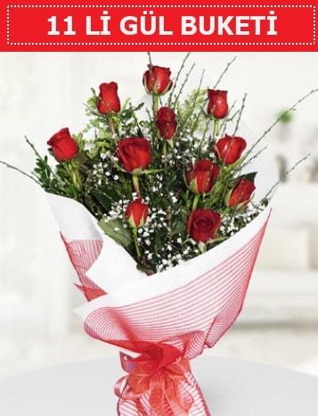 11 adet kırmızı gül buketi Aşk budur  Adana çiçek gönderme sitemiz güvenlidir