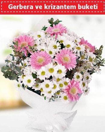 Papatya ve Gerbera Buketi  Adana çiçek , çiçekçi , çiçekçilik