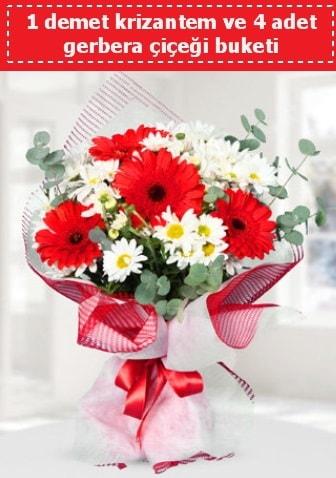 Krizantem ve Gerbera Buketi  Adana çiçek siparişi sitesi