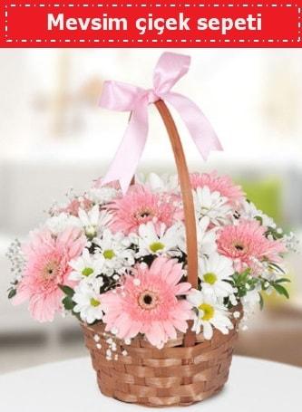 Mevsim kır çiçek sepeti  Adana çiçek , çiçekçi , çiçekçilik